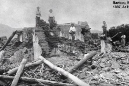 Destruction associated with 1887 earthquake