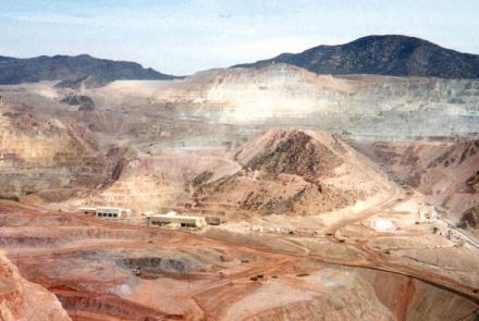 Morenci open pit mine, eastern Arizona