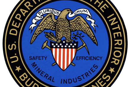 Logo of the US Bureau of Mines